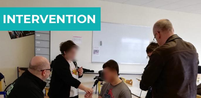 Intervention au collège Jean Monnet de Courçon (17)