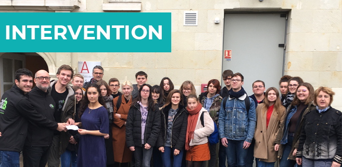 Intervention au lycée Guy Chauvet (86)