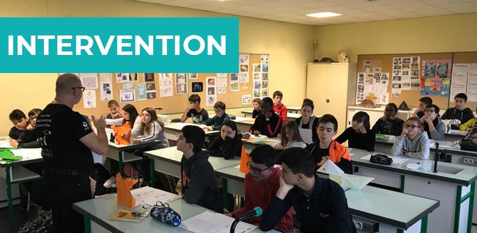 Interventions au collège Rahoul Rebout de Montlouis sur Loire (37)