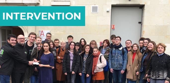 Intervention au lycée Guy Chauvet (86)