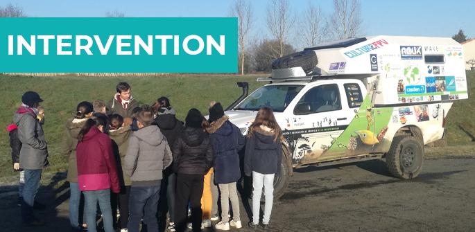 Intervention à l'école primaire des Adillons (79)