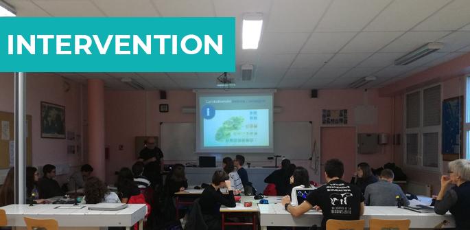Intervention au lycée Ernest Pérochon de Parthenay (79)