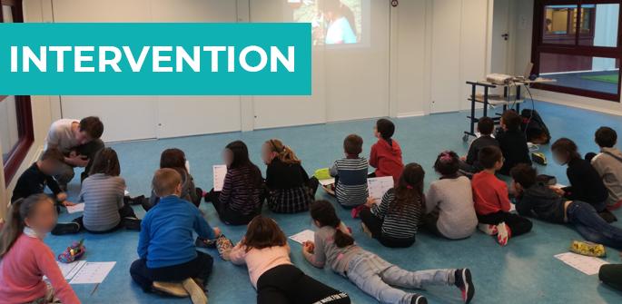 Intervention à l'école primaire de Saint-Jouin de Marnes (79)